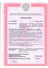 Лицензиия МЧС №1
